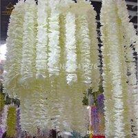 Wholesale 79 quot Meter long Elegant Artificial Orchid flower Wisteria Vine Rattan For Wedding Centerpieces Decorations Bouquet Garland Home Ornament