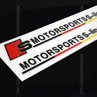 auto motorsports - 2 Car styling Motorsports Stickers Auto Mirror Accessories Wrap Adhesive Vinyl Sticker Motorcycle Mirror Audi S Line Sticker
