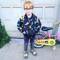 base ball jackets - New Fashion Kids Boys Girls Stars Print Jackets Base Ball Outwears Western Cute Children Clothing