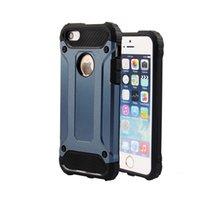Para el caso de Apple Iphone5 / 5S / SE Armadura Extraordinaria 2in1 Híbrido Soft TPU disipationt de calor Shockproof Armor Hard Cover Skin Paquete Opp