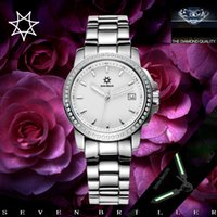 authentic swiss watches - The French couple watches authentic SEVENBRILLER female fashion waterproof stainless steel Swiss Quartz Watch Diamond Watch