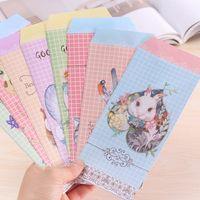 Wholesale bag New Cute Cartoon Kawaii Paper Animal floral envelope random send For Card Scrapbooking Gift korean papelaria