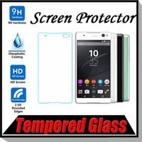 achat en gros de t2 verre-9H Explosion de Protecteur d'écran haut de gamme en verre trempé de protection Garde Film pour iPhone 7 Plus SONY Z3 Z4 Z5 Mini E3 T2 T3 C4 C5 MOQ: 10pcs