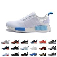 """Wholesale Cheap Branded Snow Boots - Wholesale Cheap 2017 NMD R1 W """"Blue Glow"""" 2016 New Shoes Mens Women's Athletic Running sneaker Shoes Running Shoe Brand Boost With Box"""