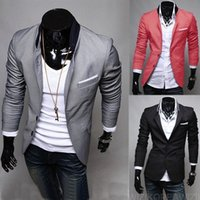 Wholesale Stylish Slim Fit Jackets Men - Hot Fashion Mens Regular Blazer Suits Casual Slim Blazer Party Evening Suits Fit Stylish Korean Dress Coats Jackets Suit