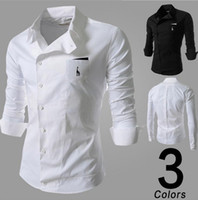 Wholesale Mens Shirts Hot Mens Comfortable and Wrap Casual Shirts Hot Male Long Sleeve and Slim Business Shirts
