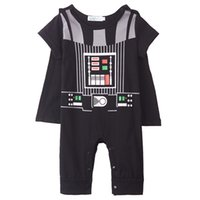 baby infant halloween costumes - Baby Boy Darth Vader Romper Costume Long Sleeve Cotton Star War Infant Cosplay