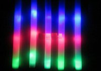 Wholesale led flashing foam stick light up foam stick glow foam stick foam glow stick led stick