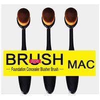 beauty eye cream - Oval Makeup Brushes Cream Puff Power Makeup Brush Beauty Cosmetic Foundation Bend Tools Toothbrush shaped Foundation Eye Brush