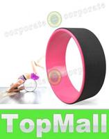 al por mayor pilates fitness circle-LAI nuevos círculos ruedas de entrenamiento Yoga Yoga Pilates anillo PC resina natural mágico del círculo mágico de Pilates Yoga Fitness giift Dharma Rueda de Navidad