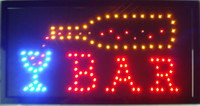 Wholesale 2016 Led bar open shop sign hot sale customed low power x19 inch semi outdoor Ultra Bright running bar shop led electric sign