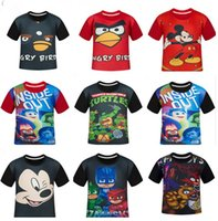 angry clothing - 9 styles Angry Bird T shirts Cartoon baby boy clothes TMNT Baby T shirts Micky Short Sleeve Kids Summer T shirt Children Tees cm D602