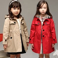 Wholesale Toddler Girls Trench Coat Kids Winter Warm Jacket Windbreaker Outerwear New