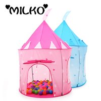 baby safety house - Safety Kids Teepee Huge Play Tents Princess Castle Tent for Children House Yard Stress Outdoors Baby Playpens Marquee Ball Pool