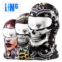 Wholesale New Popular bicycle riding face mask headgear Lin ski cap skull mask sunscreen