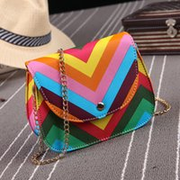 Wholesale New Women Rainbow Bags Mini Chain Shoulder Bag Designer Bags Women Purses and Handbags Crossbody Bag Messenger