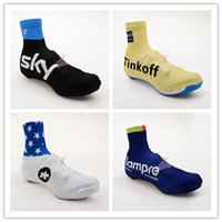 bank wear - 2015 Newest Pro Team Saxo Bank Tink Off Sky Lampre Tour de France Cycling Shoes Cover Outdoor Mountain Cycling Foot Wear
