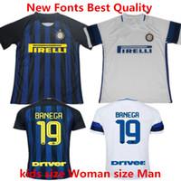 Wholesale Soccer Jersey Inter Milan vestiti di calcio Milan camisas ICARDI JOVETIC BIABIANY Home Maillot de foot Best Quality Football Shirt