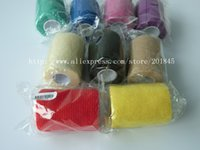 Wholesale 12pcs cm x m Self Adhesive elastic Nonwoven Cohesive Bandage Adherent Wrap