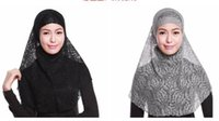 Wholesale Fashionable Muslim Hijab under scarf Ice silk Jersey Soft Bonnet Ninja Wrap Neck Cover Headwear Cap