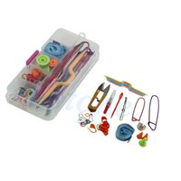 basic craft supplies - 65pcs Knitting knit craft Accessories Supply Set Basic Tools Kits with Case