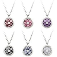 aromatherapy pendant - Premium Aromatherapy Essential Oil Diffuser Necklace Locket Pendant L Stainless Steel Jewelry with quot Chain and Washable Pads
