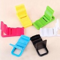 Wholesale Foldable Mini Portable Folding Holder For Cell phones Iphone4 s Samsung HTC