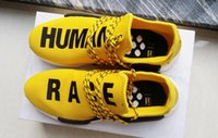 Wholesale 2016 Human Race Pharrell Williams X NMD Boost Trainning Shoes Nmd Human Race PW ZX333 standard NMDs White Black Red Green Yellow with box