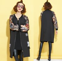 Wholesale Long Loose Autumn and Winter Thin Hip hop Brand Fashion Jacket Long sleeved Ccoat