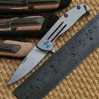 ben piece - Ben Mini small F95 style D2 blade Bear Head folding knife Titanium outdoor camp hunting pocket fruit kitchen knife EDC tool