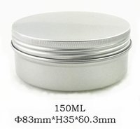 aluminum caring case - 100pcs g Empty Aluminum Mask Jar MM Container ml Screw Cap Makeup Case Hair Care Box