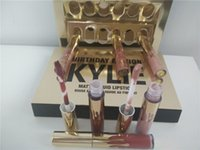 Wholesale New Kylie Jenner Limited Birthday Edition Gloss In POPPIN Different Colors Lip Gloss Mini Set Factory Direct DHL