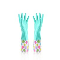 Wholesale Green Natural Latex Rubber Household Tools Gloves Wash Clothes and Dishes Thin Section Waterproof Korean Clean Glove