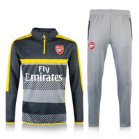 arsenal track suit - 2016 Winter Soccer Equipment Tracksuit Football arsenal survetement New Men Adults Track suits
