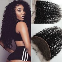 baby hair extensions - Beautiful Frontal Closure x4 Ear To Ear Deep Wave With Baby Hair Human Hair Extensions Top Closure Natural Black Color Dyeable