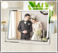 Wholesale Crystal glass Table Creative design inch inch Transparent PMMA Photo Frames Good for Display Your Pictures