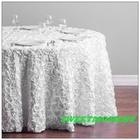 Wholesale 15pcs Rose Pattern Table cloth Many Colour Available Round cm