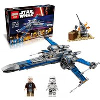 Wholesale LEPIN Star Wars First Order Poe s X wing Fighter building block compatible to legOE75149