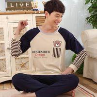 bamboo pajama - Mens Pajama Pijama Masculino High Quality Cotton Plaid Men s Lounge Pajamas Sets Men Capri XXXL