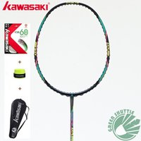 Wholesale Original Kawasaki Full Carbon Badminton Racket Raquette Badminton With Gift