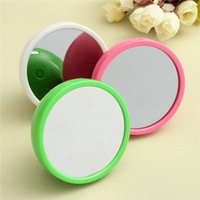 Wholesale Overvalue Fashion Personality Mirror LED Digital Alarm Clock Multifunction Cosmetic Makeup Mirror Clock Table Time Alarm Clock