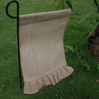 Wholesale Wholsale Blanks Ruffle Jute Garden Flag Yard Flag Decorate Your Garden Via FedEx DOM103328