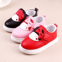 Wholesale 2016 Autumn New Baby Girls Soft PU Leather Shoes for Year Old Kids