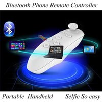 Wholesale 2016 Universal Bluetooth Remote Controller wireless Gamepad Mouse Mini Wireless Joystick for iPhone Samsung Android IOS VR BOX