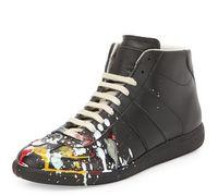 b ink - The New MMM Brand Graffiti Camouflage Paint Maison Martin Margiela Men Splash ink Hi Shoes Onsale