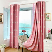 Wholesale Fashion Cloud Cartoon Children Curtain Thick Heavy Eyelet Draperies Cortina Blinds Shade Full Blackout Curtain For Living Room JI0145