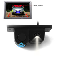 Wholesale 2in1 LCD Car SUV Reverse Parking Radar Rear View Backup Wide Angle Camera Kit Auto Rear View Camera CAL_00B