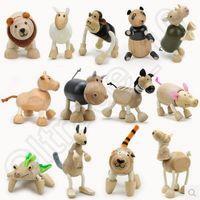 farm animals toys - 150pcs CCA3762 Brand New Maple Animal Australia Anamalz Organic Maple Wooden Animal Dolls Farm Educational Toys Wildlife Wood Animal Toys