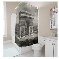 Wholesale Customs W x H Inch Shower Curtain The Triumphal Arch Theme Waterproof Polyester Fabric DIY Shower Curtain