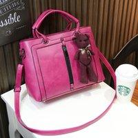 Wholesale 2016 new female bag Korean simple retro motorcycle bag zipper portable shoulder bag Messenger bag